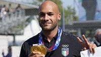 Držitel zlaté olympijské medaile Marcell Jacobs z Itálie.