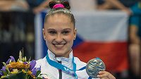 Sportovní gymnastka Aneta Holasová získala na závěr Evropských her v Minsku stříbro v prostných.