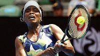 Americká tenistka Venus Williams na letošním Australian Open.