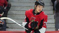 Ottawský Filip Chlapík při svém debutu v NHL