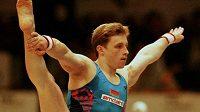 Bývalá gymnastická hvězda Vitalij Ščerbo na snímku z MS v roce 1996.