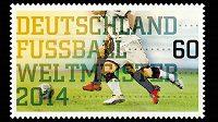 Známka na počest německého triumfu při MS se tiskla už před finále.