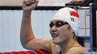 Čínská plavkyně Jie Š'-wen ohromila světovým rekordem na dlouhé polohovce.