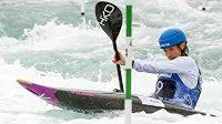 Štěpánka Hilgertová při kvalifikaci na mistrovství světa v Londýně.