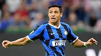 Útočník Interu Milán Alexis Sanchez během duelu s Udine.