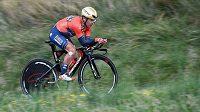 Italský cyklista Domenico Pozzovivo.