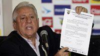 Bývalý předseda Ekvádorského fotbalového svazu Luis Chiriboga.