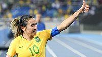 Marta v dresu brazilské reprezentace.