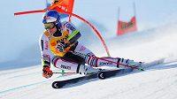 Alexis Pinturault v prvním kole v obřím slalomu v Adelbodenu.