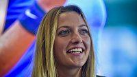 Tenistka Petra Kvitová hovoří s novináři po ukončení sezóny.