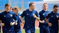 Fotbalisté Ruska během přípravy na EURO.