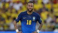 Brazilec Neymar v kvalifikačním utkání proti Kolumbii nebyl příliš spokojený