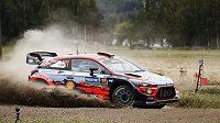 Belgičan Thierry Neuville během Finské rallye