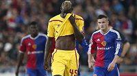 Liverpoolský útočník Mario Balotelli byl po utkání v Basileji zklamaný, Reds na brankáře Tomáše Vaclíka recept nenašli.