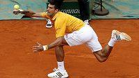 Novak Djokovič behěm finále s Tomášem Berdychem.