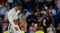 Zklamaný Cristiano Ronaldo v duelu s Villarrealem.