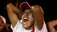 Peruánský fanoušek, který sledoval zápas reprezentace jeho země s Novým Zélandem.