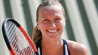 Petra Kvitová zůstává usměvavá.