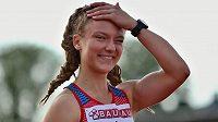 Čtvrtkařka Barbora Malíková na juniorském mistrovství Evropy v Borasu.