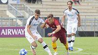 Utkání AS Řím proti Plzni v UEFA Youth League.