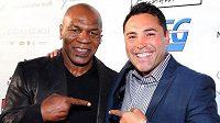 Boxerský šampion De la Hoya s Mikem Tysonem