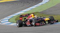 Sebastian Vettel ze stáje Red Bull na trati v Hockenheimu