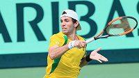 Tohle se mu nevyplatilo. Brazilský tenista Guilherme Clezar dostal pokutu 1500 dolarů za rasistické gesto.