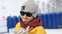 Justin Reiter, trenér snowboardistky Ester Ledecké během Světového poháru v Cortině.