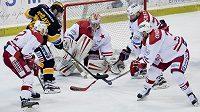 Utkání 5. kola baráže o hokejovou extraligu mezi Slavií a Litvínovem vyústilo v zasedání disciplinární komise