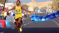 Etiopský běžec Asefa Mekonnen vyhrál maratón v Dubaji.