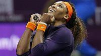 Serena Williamsová slaví v Dauhá postup přes Petru Kvitovou.