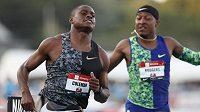 Christian Coleman během závodu na 100 metrů na mistrovství USA