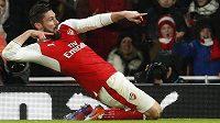 Olivier Giroud z Arsenalu poté, co otevřel skóre proti Crystal Palace.