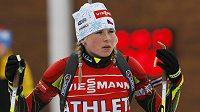 Česká biatlonistka Barbora Tomešová na volném tréninku žen během MS v Novém Městě na Moravě.