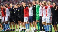 Fotbalisté Slavie se radují z luxusního náskoku na druhou Plzeň.