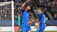 Fotbalisté Francie vyhráli v přípravě nad týmem Paraguaye 5:0. Olivier Giroud si připsal hattrick.