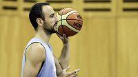 Argentinský basketbalista Manu Ginobili.