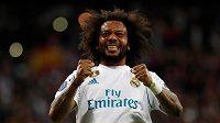 Obránce Realu Madrid Marcelo během odvety s Bayernem Mnichov.