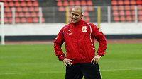 Roman Bednář na tréninku české fotbalové reprezentace