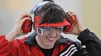 Lenka Marušková má důvod k úsměvu: postoupila do olympijského finále ve střelbě ze vzduchové pistole na 10 metrů