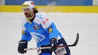 Plzeňský Ryan Hollweg během utkání playoff Tipsport extraligy mezi HC Škoda Plzeň a HC Verva Litvínov.