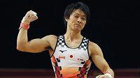 Trojnásobný olympijský vítěz ve sportovní gymnastice Kohei Učimura