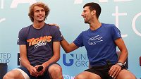Novak Djokovič a Alexander Zverev se v Bělehradu dobře bavili.