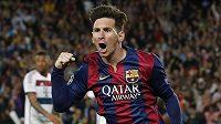 Režisér hry Barcelony Lionel Messi, hrdina prvního semifinále s Bayernem.
