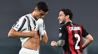 Zklamaný Cristiano Ronaldo z Juventusu.