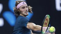 Řecký mladík Stefanos Tsitsipas v semifinále Australian Open v Melbourne.
