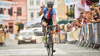 Leopold König v cíli 3. etapy Czech Cycling Tour.