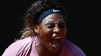 Slavná tenistka Serena Williamsová na turnaji v Římě záhy dohrála.