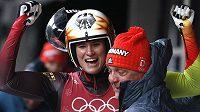 Radost olympijského zlata v podání německé sáňkařky Natalie Geisenbergerové.