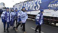 Kometa expres, vlak s hokejisty a fanoušky Komety Brno odjel na extraligový zápas se Spartou.